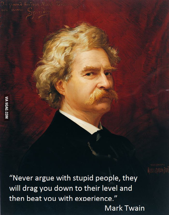 Twain knew something!