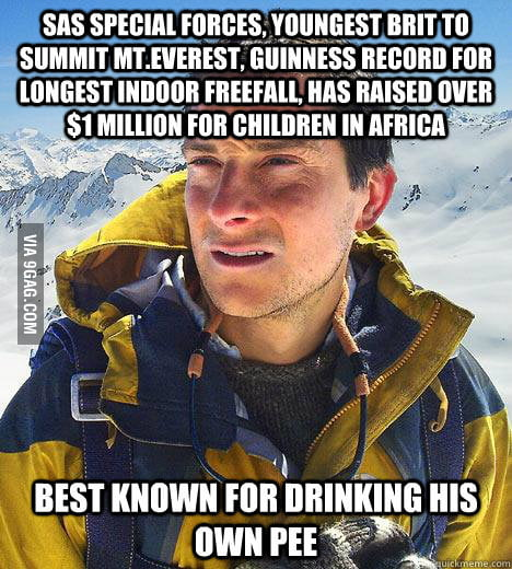 Bad luck Bear Grylls
