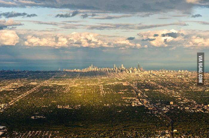 An unlikely view of Chicago.