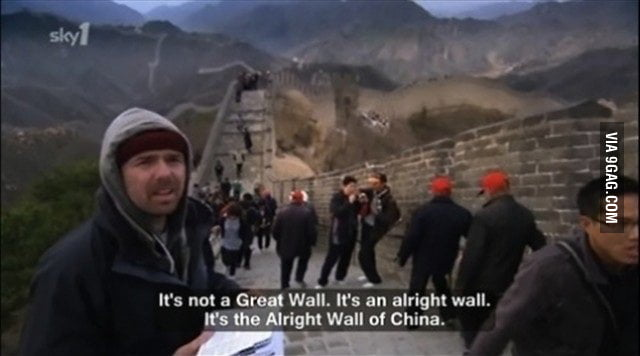 It's not a Great Wall. It&#039