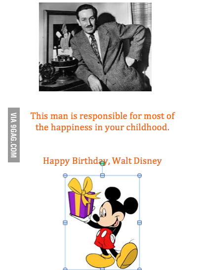 Happy Birthday, Mr. Disney