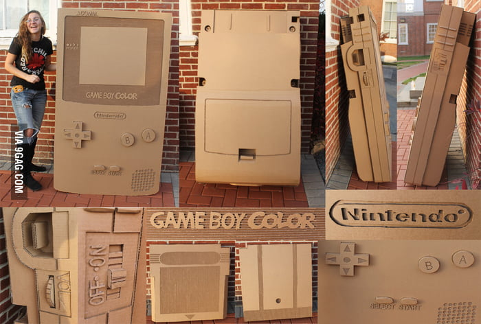 Giant Cardboard Game Boy Color