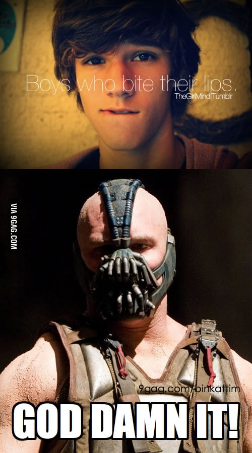 Poor Bane can't bite his lips.