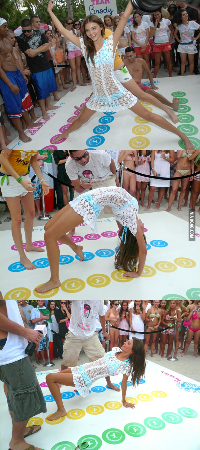 Miranda Kerr is the Twister Queen!