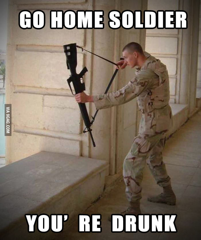 GO HOME SOLDIER...