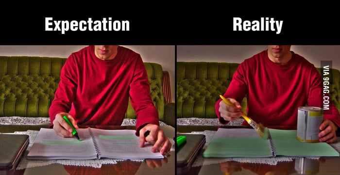 When trying to study