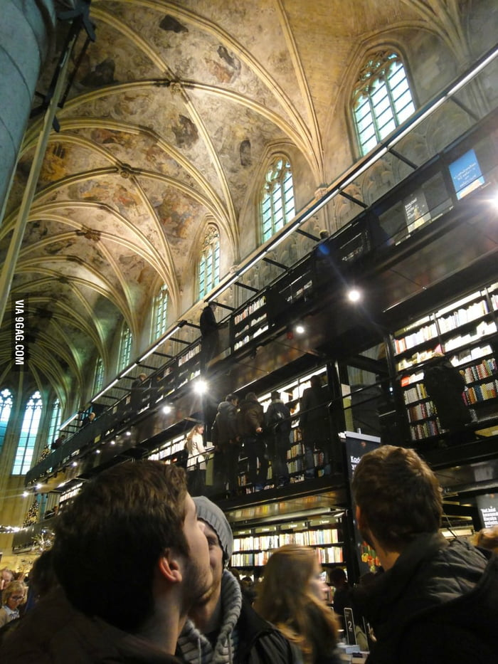 A church converted into a library.