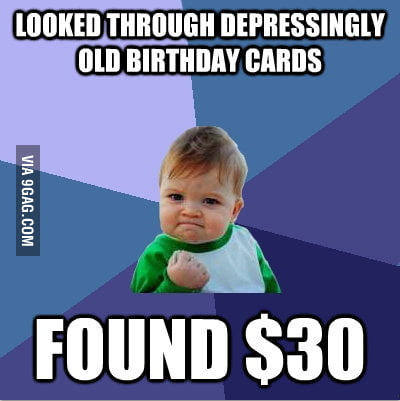 Being old pays!