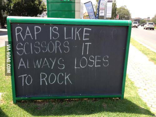Rap is like scissors