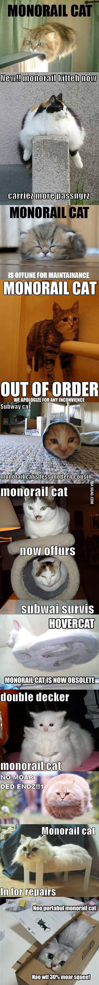 Monorail cats