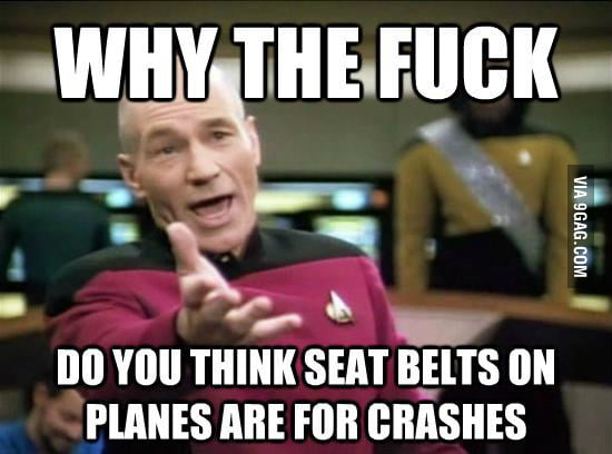 They're for turbulence, stupid.
