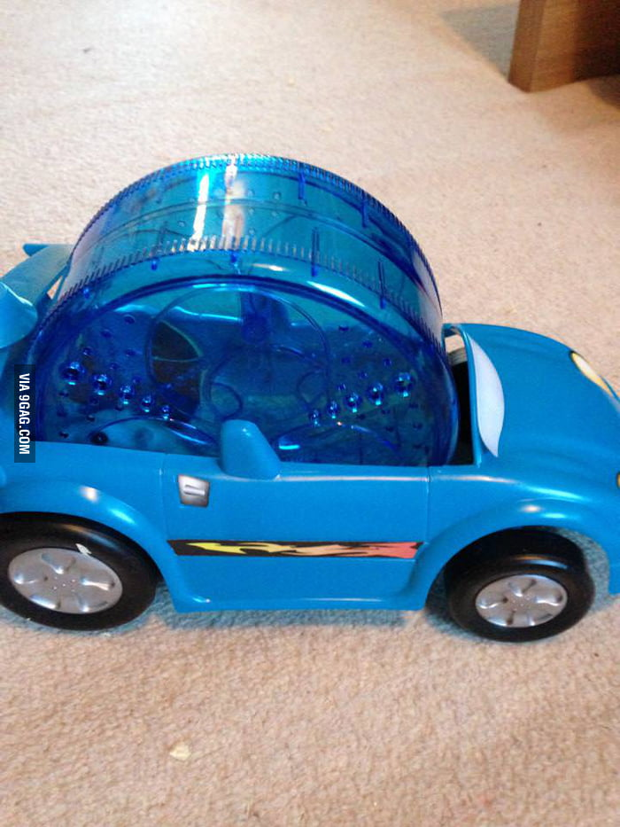 Bought my hamster a car.