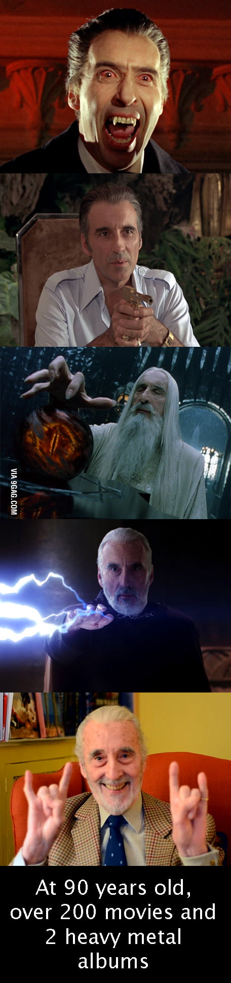 Sir Christopher Lee rocks