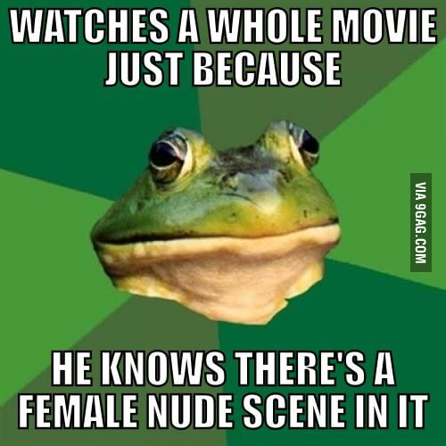 Foul Bachelor Frog watching movies