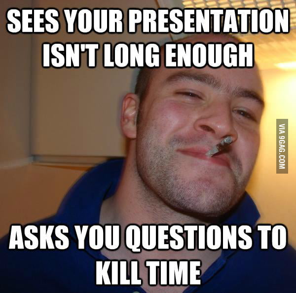 Good Guy Greg in class.