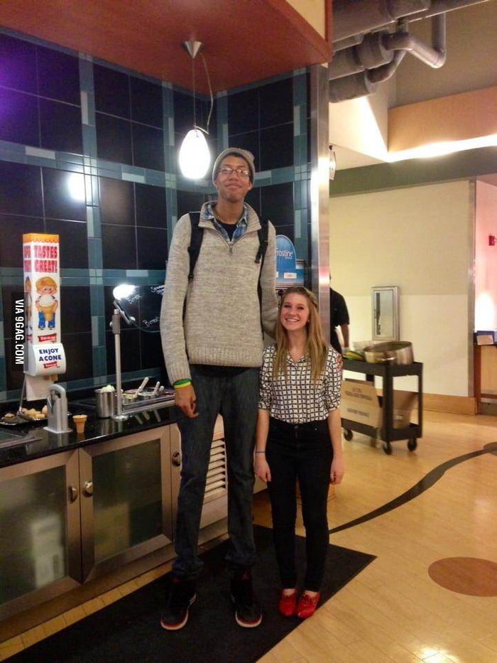 Is he pretty tall or is she pretty short?