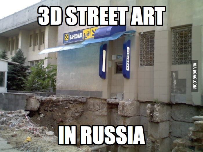 3D Street Art in Russia