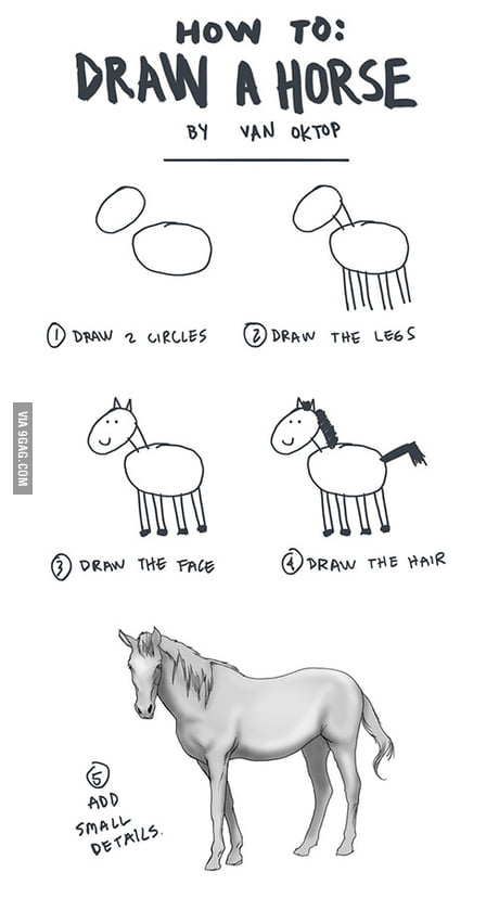 How To Draw A Horse 9gag