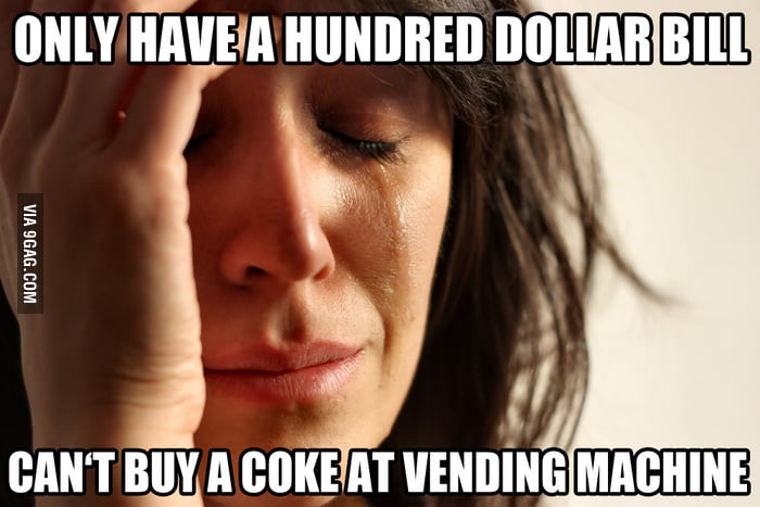 First vending machine problem