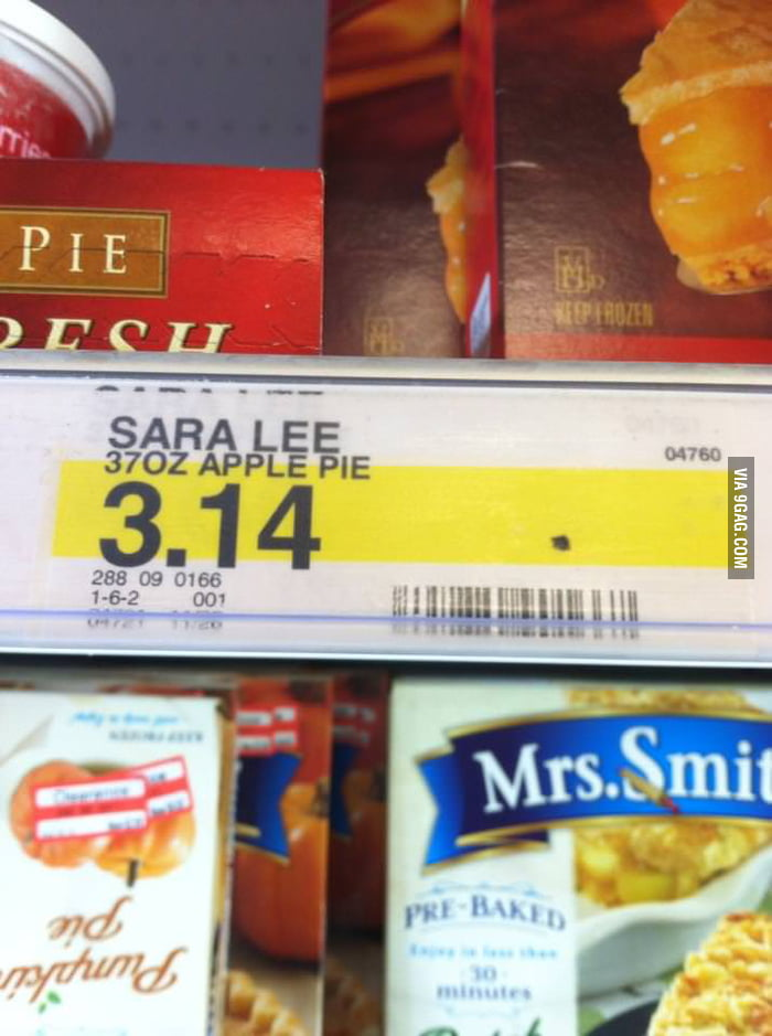 Pie costs $3.14 at Target. Well played.