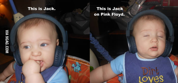 6-month-old listening to Pink Floyd