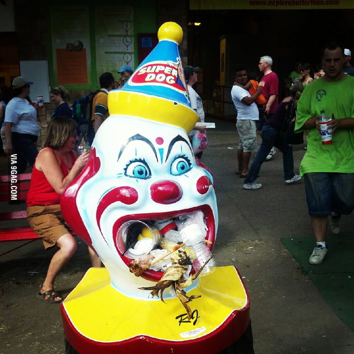 Poor clown.