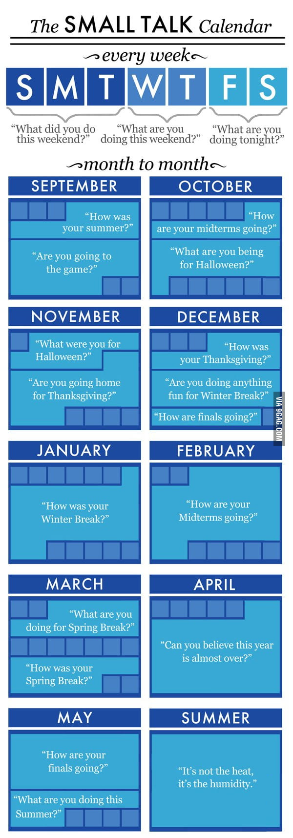 The Small Talk Calendar
