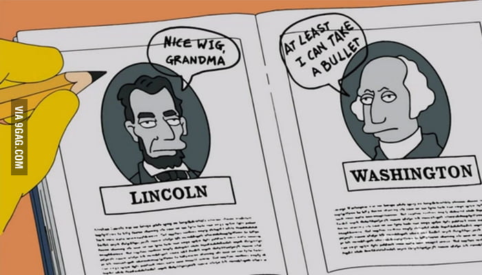 Learning history from The Simpsons.