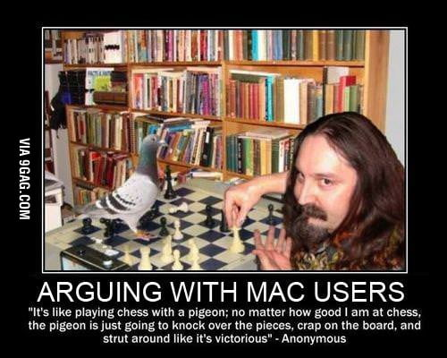 Arguing with mac users