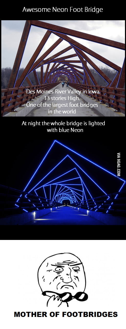 Awesome Neon Footbridge