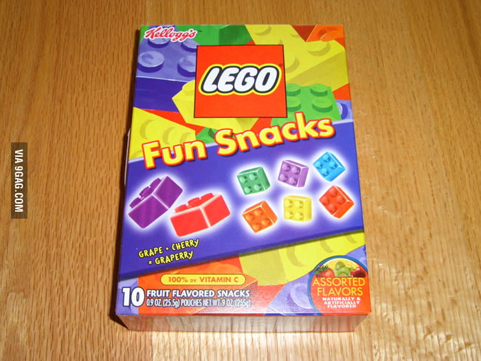 LEGO snacks? You'll sh*t bricks.