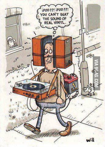 The sound of real vinyl