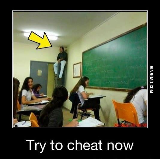 Try to cheat now!