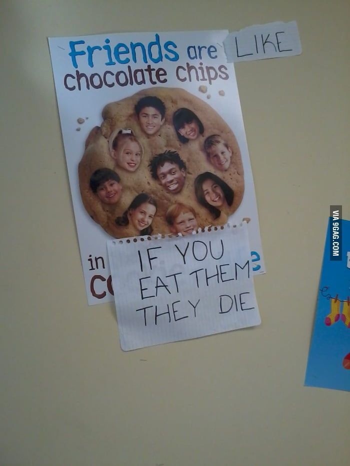 Friends are like chocolate chips