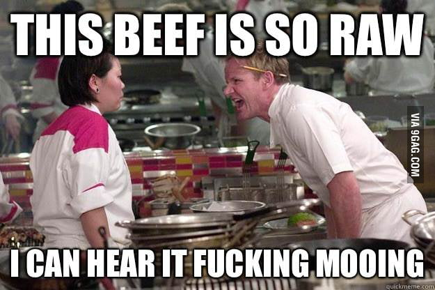 Gordon Ramsay doesn't like ra