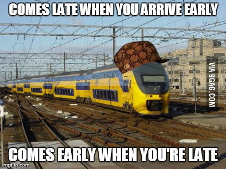 Scumbag train always trolls you