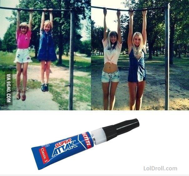 Don't joke with super glue...