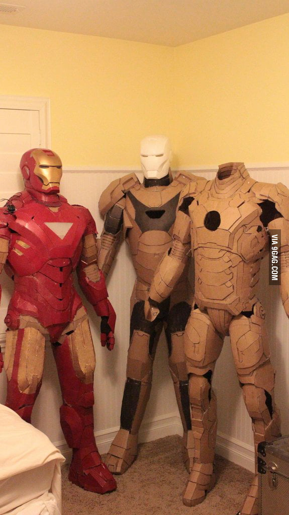 Iron Man Suits out of cardboard