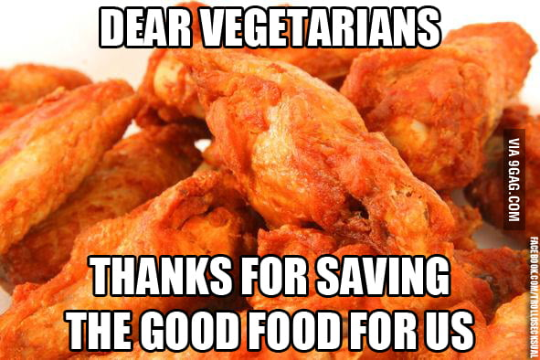 Dear Vegetarians..