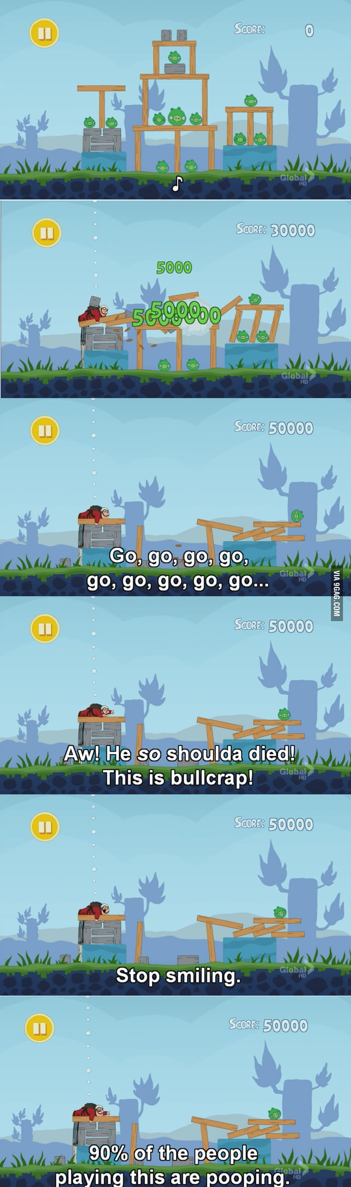 Peter meets Angry Birds