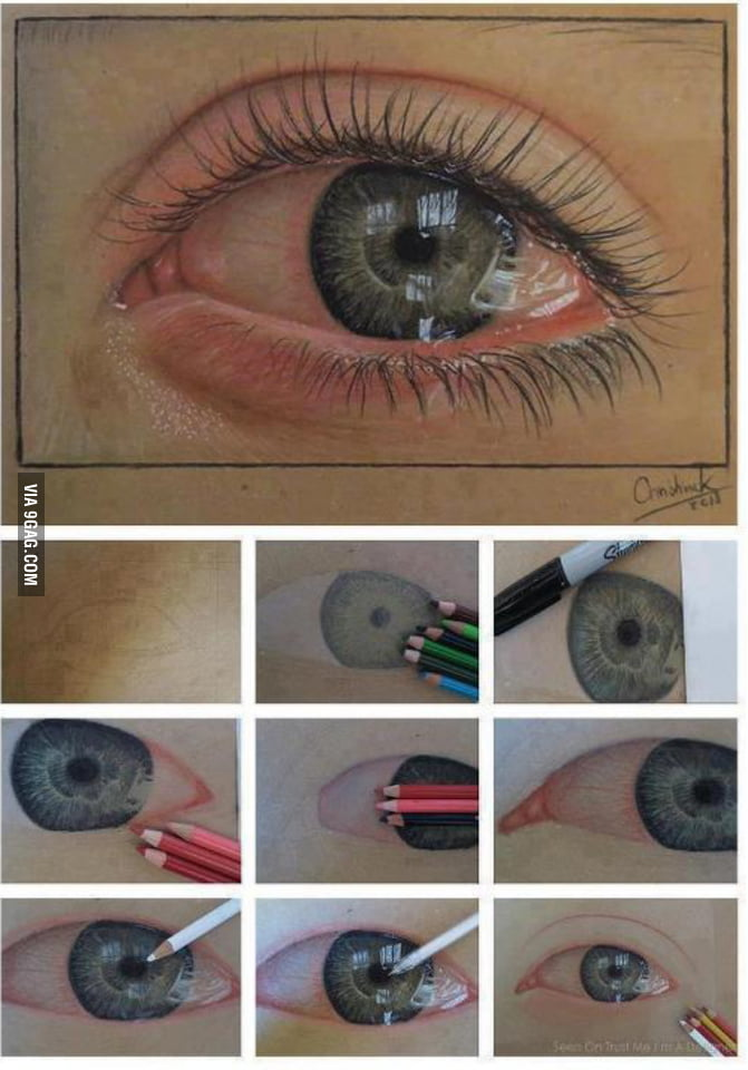 Pencil drawn eye