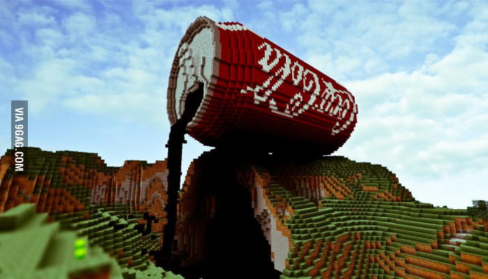 Epic coke in minecraft