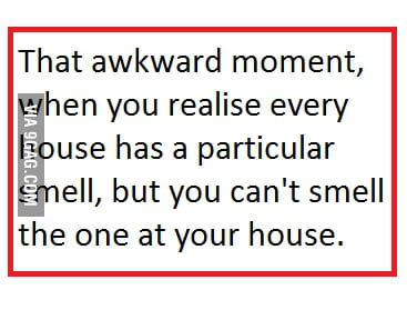 That awkward moment ..