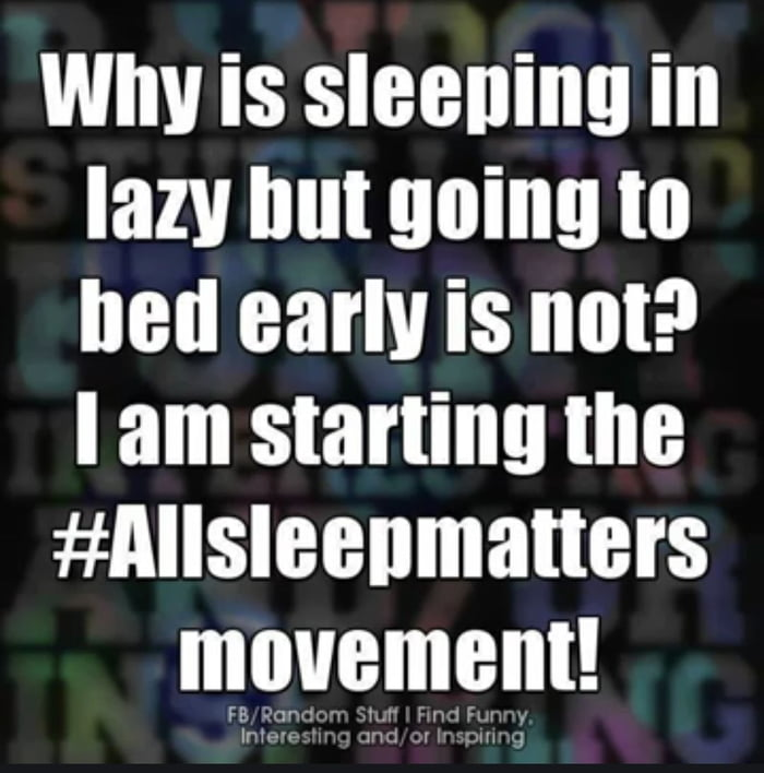 All sleep matters...