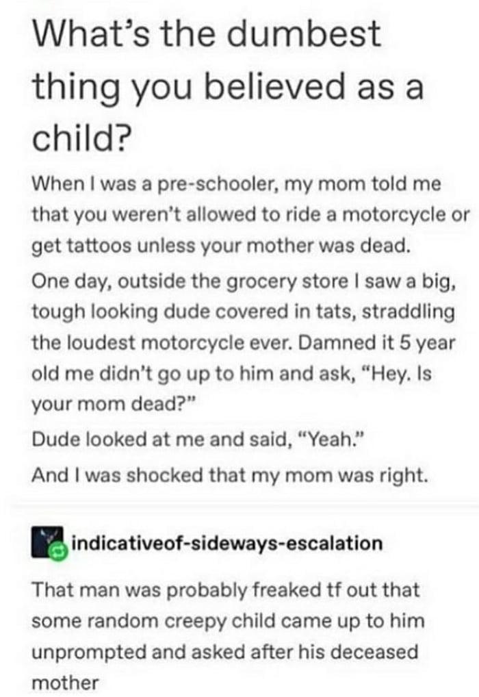 Confused biker is confused