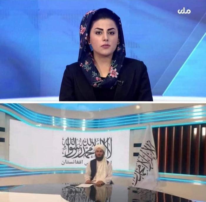 Afghanistan newsreader yesterday vs today