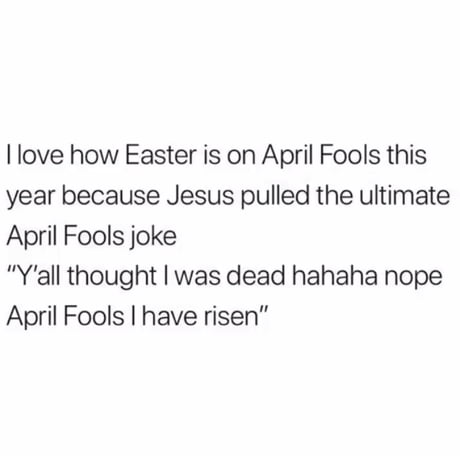 The first April fools joke!!