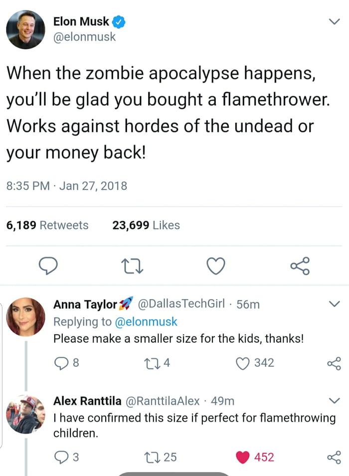 Flamethrowing zombies and... children..?