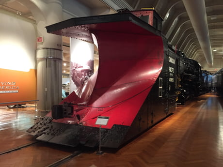 Canadian Pacific snow removal locomotive