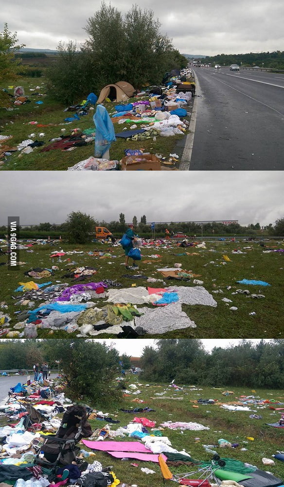Refugees in Hungary...